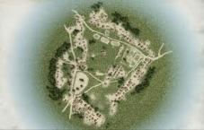 aerial layout of town