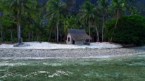 hut on island