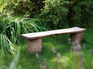 bench in summer